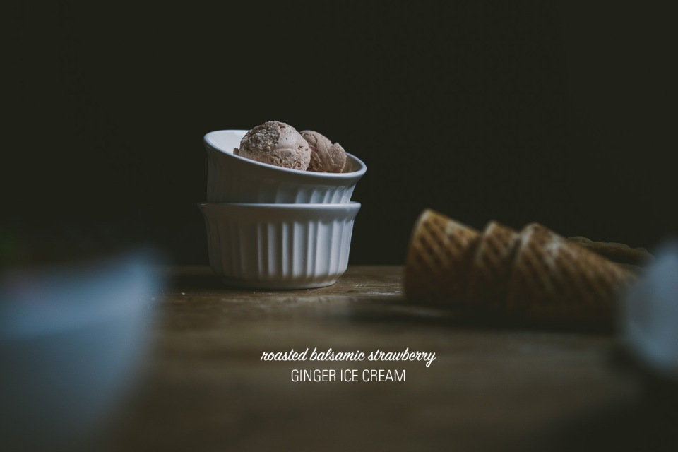 Roasted Balsamic Strawberry Ginger Ice Cream | le jus d'orange-8 copy