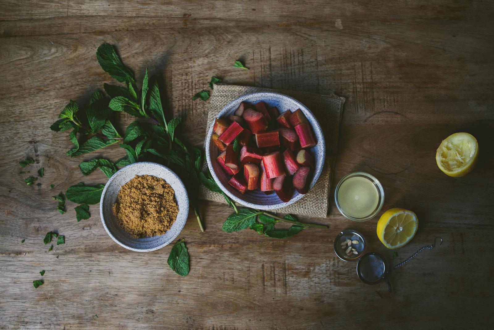 Rhubarb Rose Mint Jam | le jus d