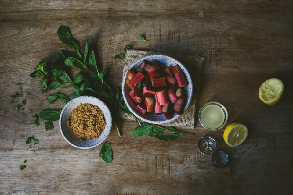 Rhubarb Rose Mint Jam | le jus d'orange-1
