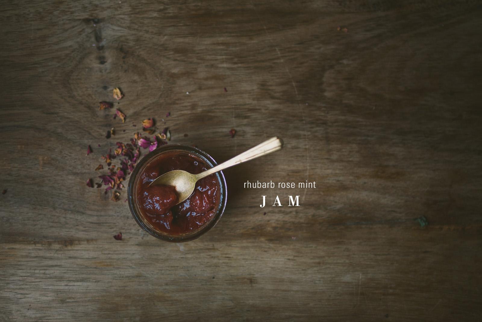 rhubarb-rose-mint-jam | le jus d