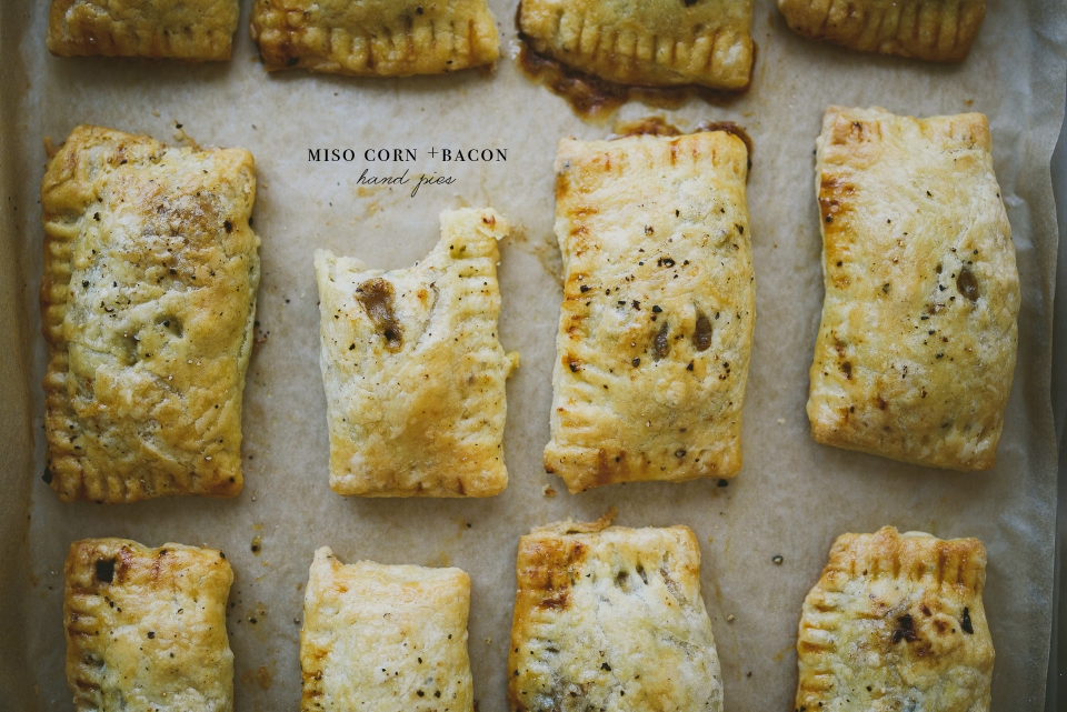 Miso Corn and Bacon Hand Pies | le jus d'orange | food & photography