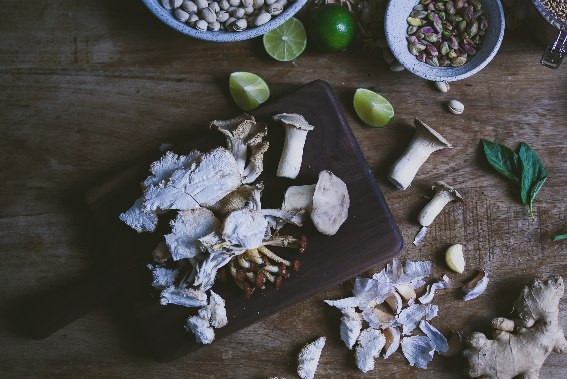 mushroom farro pistachio pesto | le jus d